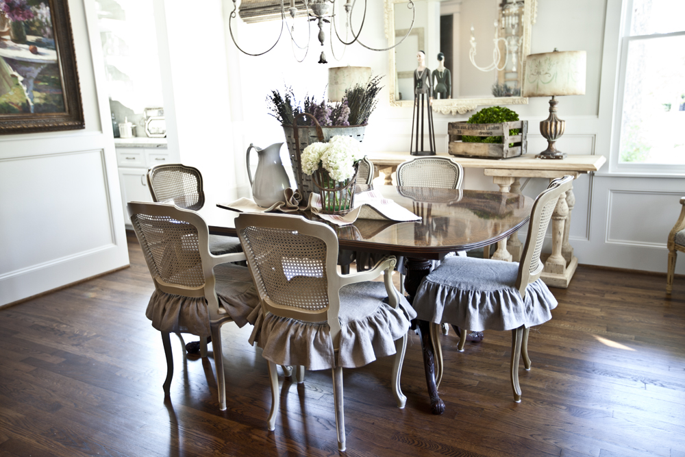 French country home tour parade of homes at the picket for Dining room in french