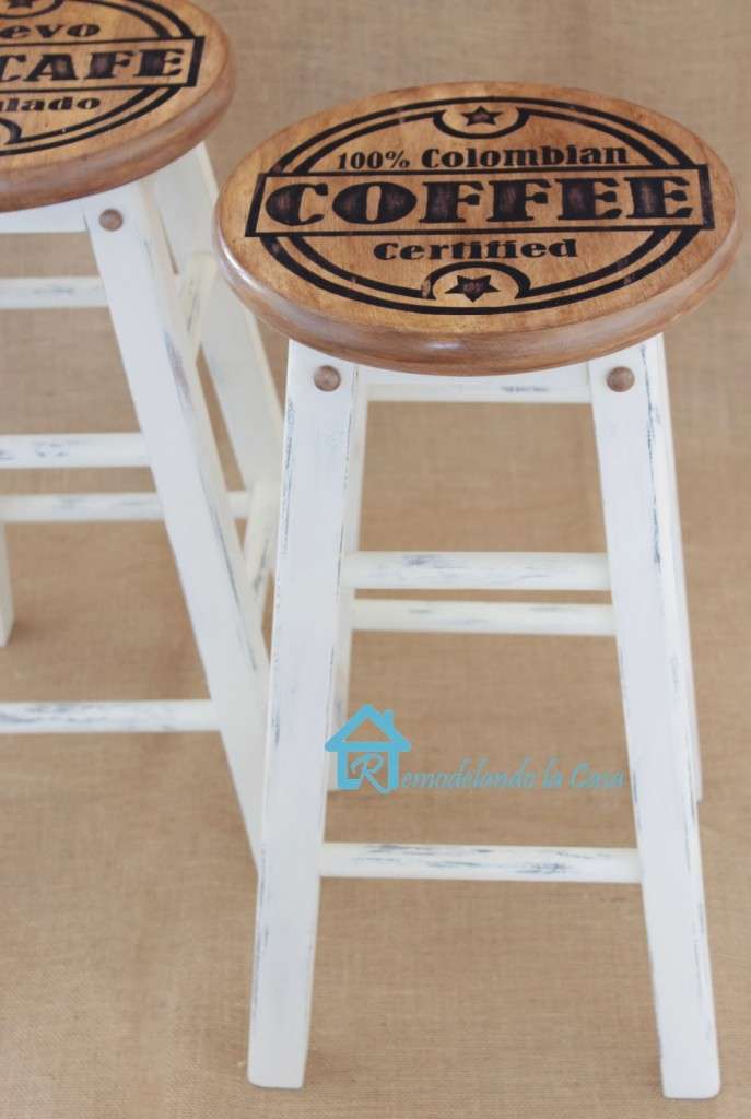Colombian Coffee painted stools4