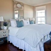 blue-bed-with-French-gray-mirror