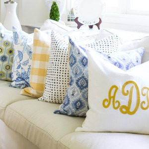 decorating with pillows on sutton place